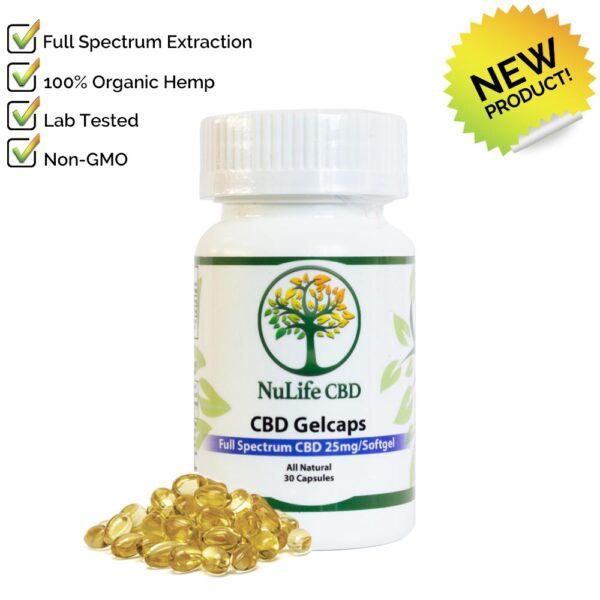 Nulife CBD Oils full spectrum 750mg cbd Gelcaps