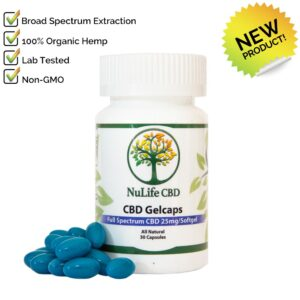 Nulife CBD Oils full spectrum 750mg cbd Gelcaps-b