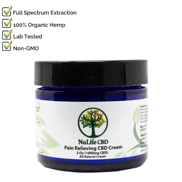 Nulife CBD Oils 1000mg CBD Cream Salve